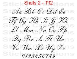 Custom Text Shells 3 Font Script Cursive Customized