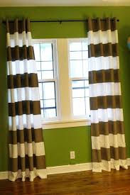 Yellow And White Striped Curtains by Diy Horizontal Striped Curtains Integralbook Com