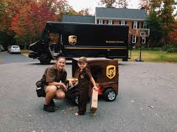 Turned His Power Wheels Jeep Into A UPS Truck For Halloween. The UPS ...