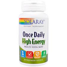 Solaray ce Daily High Energy Multi Vita Min 60 Ve arian