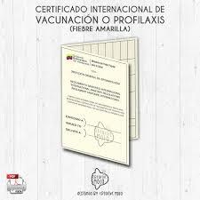 Certificado Internacional D Vacunacion Fiebre Amarilla Leer
