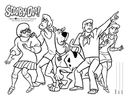Scooby Doo Colouring Pages Black White