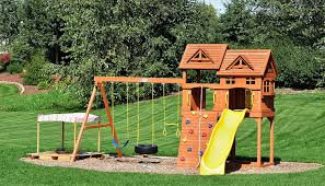 Interesting Small Backyard Ideas For Kids Pics Decoration Pictures ... Playsets Swing Sets Parks Playhouses The Home Depot Backyard Discovery Prescott Cedar Wooden Set Picture With Home Decor Fantastic Frame Garden Inspiring Outdoor Playground Design Ideas Lowes Kids Playhouseturn Our Swing Set Into This Maybe Shop At Lowescom Somerset Wood Image Breathtaking Swings Slides Toys Walmartcom Ipirations Create Creativity Your Child