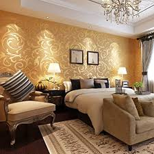 gototop 10 m rolle 3d barockstil wandtattoo wasserdicht und feuerfest für dekoration wohnzimmer schlafzimmer gold