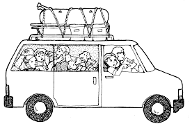 Summer Vacation Clip Art Black And White Clipart