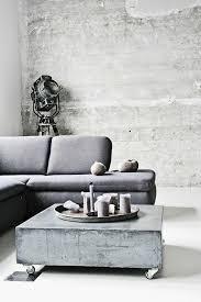 der beton couchtisch bescheidene eleganz und stilvolles