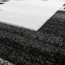 huis designer teppich edel konturenschnitt kariert grau