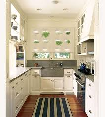 Narrow Kitchen Ideas Pinterest by Vintage White Small U Shaped Kitchen Design Victorian Terrace