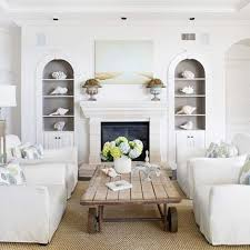 Coastal Living Room Ideas For Small Space With White Chairs With