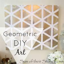 Pinterest Inspired Geometric DIY Art