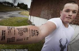 18 Year Old Stian Ytterdahl Showed His Extreme Love For Mcdonald After Tattooing The Receipt On Arm He Did This Friends Told Him Was Too Much