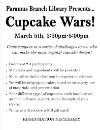 Halloween Cake Wars Judges by Teen Cupcake Wars Registration Required Teen Library Programs