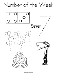 Number Of The Week Coloring Page