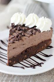 This Brownie Bottom Chocolate Mousse Cake is fudgy brownie is topped with a rich dark chocolate