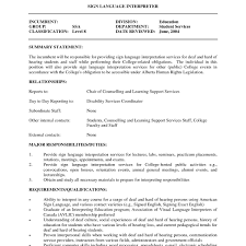 910 Interpreter Resume Template Juliasrestaurantnjcom