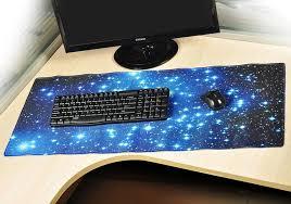 blue stars anti slip neoprene large computer gaming mouse keyboard