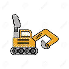 100 Digger Truck Videos Excavator Construction Machine Icon Vector Illustration