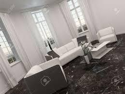 luxus wohnzimmer innenraum mit erker und weißen