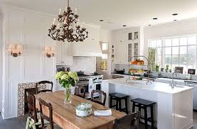 White Traditional Kitchen Design Ideas by Kitchen Room Simple Minimalist Kitchen With Exposed Brick Wall