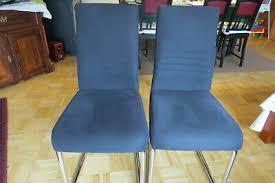 esszimmerstuhl stuhl ursel 2 stück chrom dunkelblau