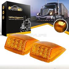 100 Truck Clearance Lights 2X17 LED Amber Roof Top Cab Marker For Peterbilt
