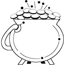 Leprechaun Pot Of Gold Coloring Page