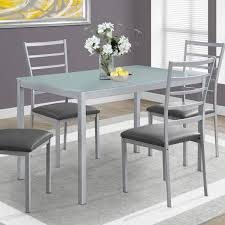 Selene 5-Piece Frosted Glass Dining Set - Silver Sofia Imaestri Marseille Transitional Upholstered Seat And Back Ding Side Chair By Steve Silver At Wayside Fniture Shollyn Uph 4cn Colette Velvet Violet Grey Silver Ding Room Hollywood Homes Elegant Exquisite Workmanship Series Room Round Tabelegant Table And Chairsbf0104009 Buy Setantique 25 Gray Ideas Bella 5piece Kitchen Set Silverlight Grey Chairs New Fascating Black Sets Vergara Paris 5 Pc 1958 Glam Elegance Del Sol Home Bevelle 18 Inch Leaf
