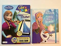 Disney Frozen Coloring Book With 3D Feature Via Free App And Annas Of Secrets Memory