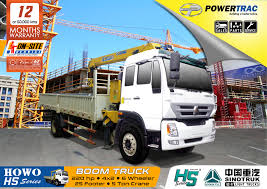 Howo Boom Truck | Powertrac – Building A Better Future.