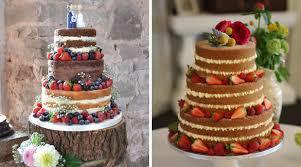 Chocolate Sponge Wedding Cake Photo