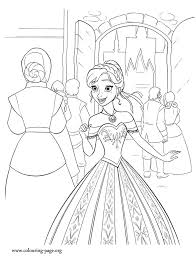 Anna Is Excited Because Lots Of People Arriving In Arendelle For The Ceremony Print And Color This Amazing Disney Frozen Coloring Sheet Have Fun