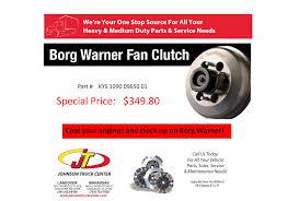 100 Warner Truck Center Borg Fan Clutch Special Johnson