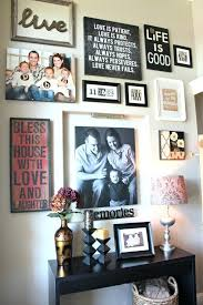 Ideas For Displaying Family Photos On Wall Front Entryway Decorating How To Hang Pictures