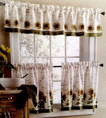 White Kitchen Curtains With Sunflowers by 33 Best New Sunflower Kitchen With Black Images On Pinterest