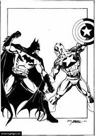 Captain Vs Batman America Printable Coloring Page