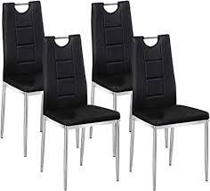tmee esszimmerstühle aus kunstleder mit einzigartigem griff und chrom beinen modern stilvoll hohe rückenlehne für esszimmer konferenzraum 4