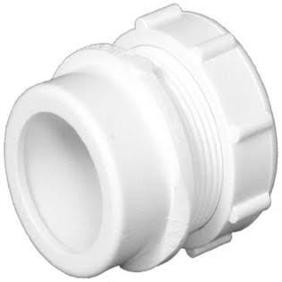 "Charlotte PVC Trap Adapter - White, 1-1/2"" x 1-1/4"""