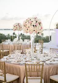 Elegant Cancun Tall Wedding Reception Centerpiece