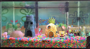Spongebob Aquarium Decor Set by Tiki Qurium Tiki Central