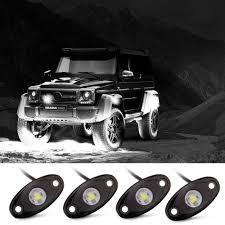 Rock Lights, Off Road Lights With 4 Pods CREE LED And Extended Wire ... Led Offroad Light Bars For Trucks Led Lights Design Top 10 Best Truck Driving Fog Lamp For Brightest 36w Cree Work 12v Vehicle Atv Bar Tractor Rms Offroad Cheap Off Road Find Aliexpresscom Buy Solicht 55 45w 9pcs 10inch 255w 12v Hight Intensty Spot Star Rear Chase Dust Utv Jeep Pair Round 9inch 162w 4x4 Rigid Industries D2 Pro Flush Mount 1513 Heavy Duty Vehicles Desnation News