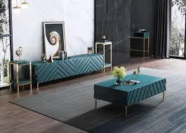 modernes design wohn wand wohnzimmer sideboard rtv regal staender turkis holz
