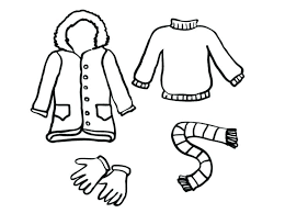 Winter Clothes Coloring Pages Of
