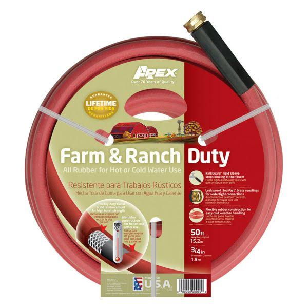 "Teknor Apex Farm and Ranch Duty All Rubber Hose - Ranch Hot, 3/4"" x 50'"