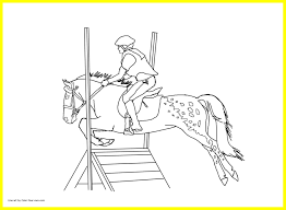 Horse Jumping Coloring Pages Save New Unbelievable Of For