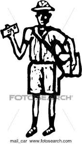 Clipart Mail Carrier Fotosearch Search Clip Art Illustration Murals Drawings and
