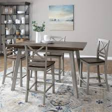 Nashville Counter Height Table 4 Chairs In Grey
