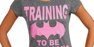 training to be batman u0027s wife u0027 shirt for teen girls sends all the