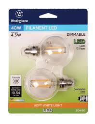 westinghouse g16 1 2 4 1 2 watt 40 watt equivalent candelabra