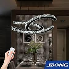 led pendelleuchte dimmbar mit fernbedienung steuerbare farbtemperatur 42w glas kristall dekoration fur wohnzimmer schlafzimmer küche und esszimmer