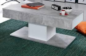 details zu couchtisch wohnzimmer beistelltisch weiß grau beton design 2x schubkasten 110 cm